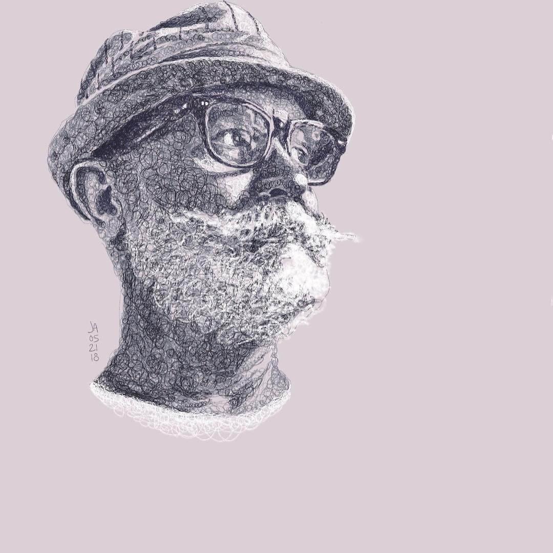 01-Taylor-Jennifer-Ackerman-Digital-Art-Scribble-Drawing-Portraits-www-designstack-co