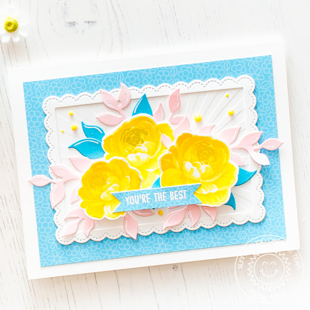Sunny Studio Stamps: Everything's Rosy Card by Mona Toth