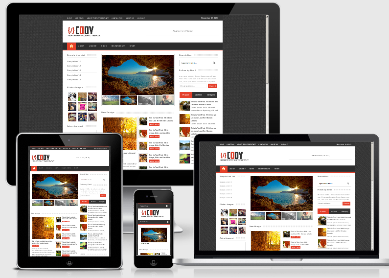 Free Download Cody Responsive Blogger Template Gratis