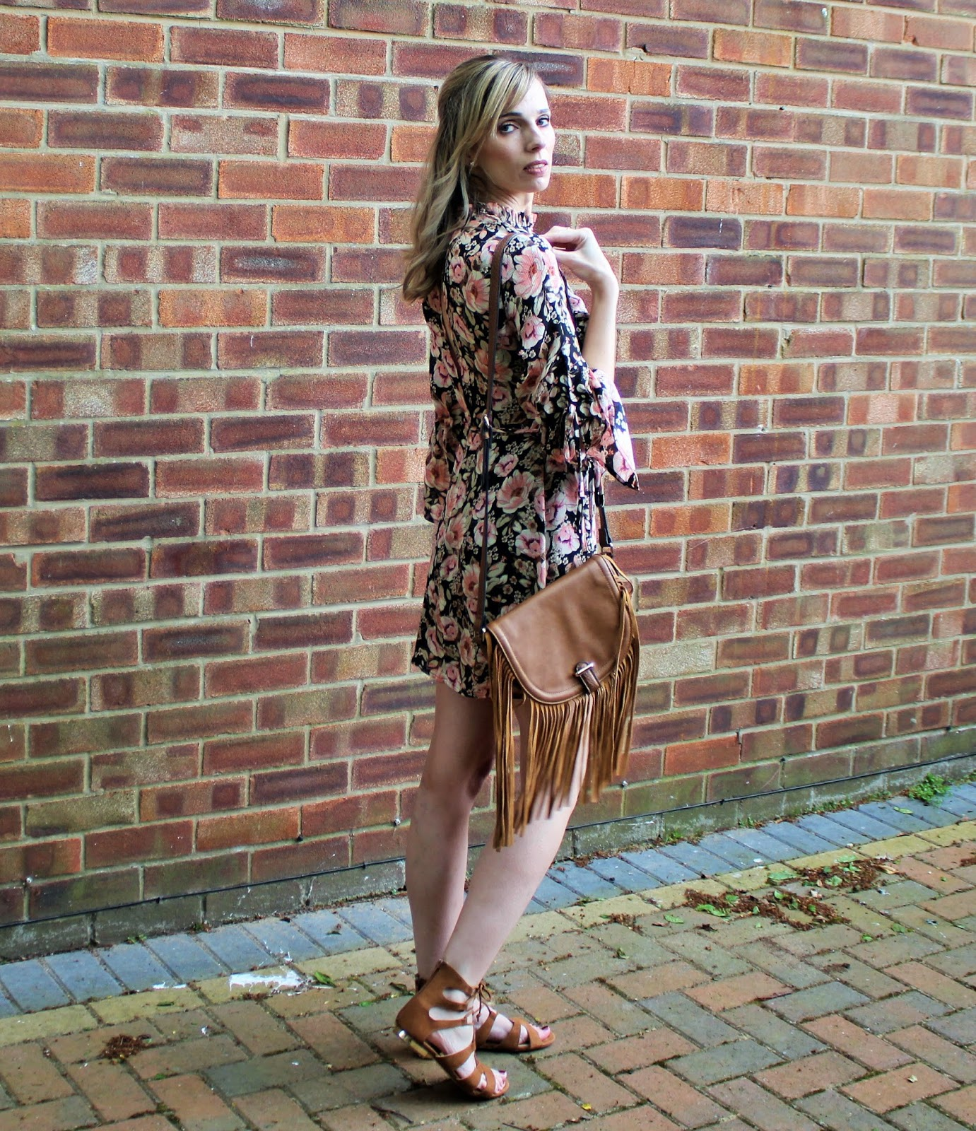 OOTD featuring a floral dress from Topshop and beaded bracelet from Lola Rose - 8