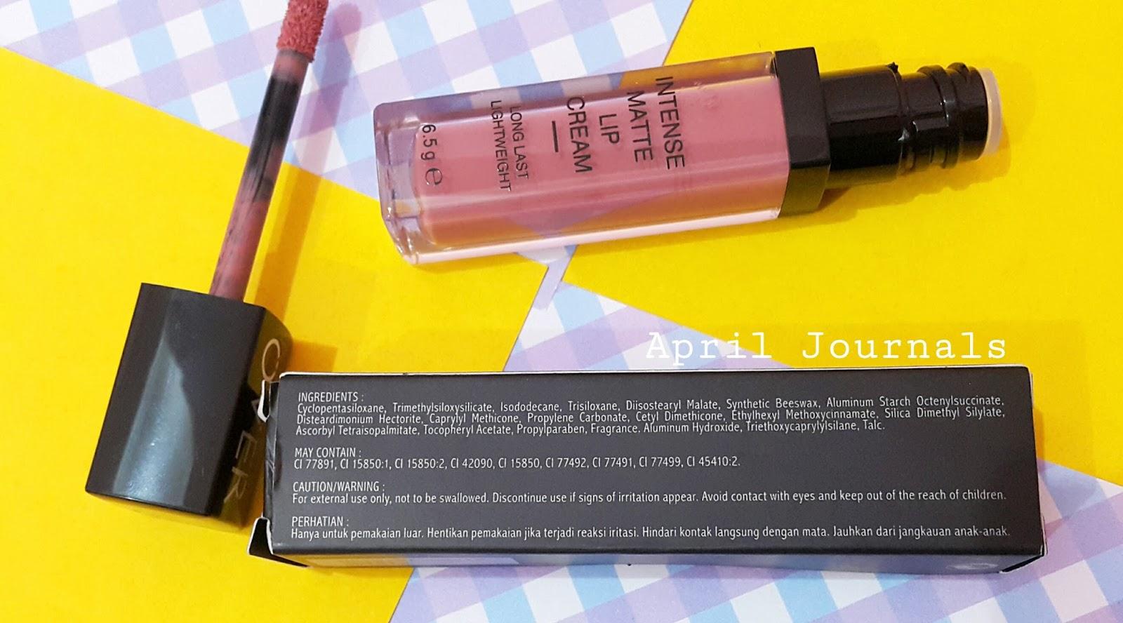 Make Over Intense Matte Lip Cream 003 Secret Cindyartha Aprilia Produk Ini Keluar Dengan Packaging Kardus Hitam Kecil Yang Berisi Keterangan Ingredients Expired Date Dan Kode Bpom Nya Sayangnya Masih