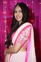 Adaa Sharma in White Pink Saree at Zee Telugu Apsara Awards 2017 44.JPG