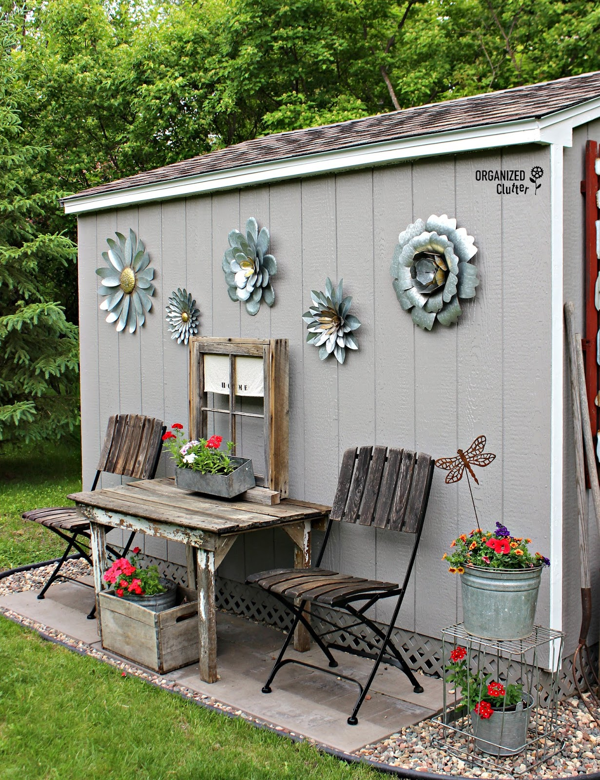 Decorate Outside Garden Shed
