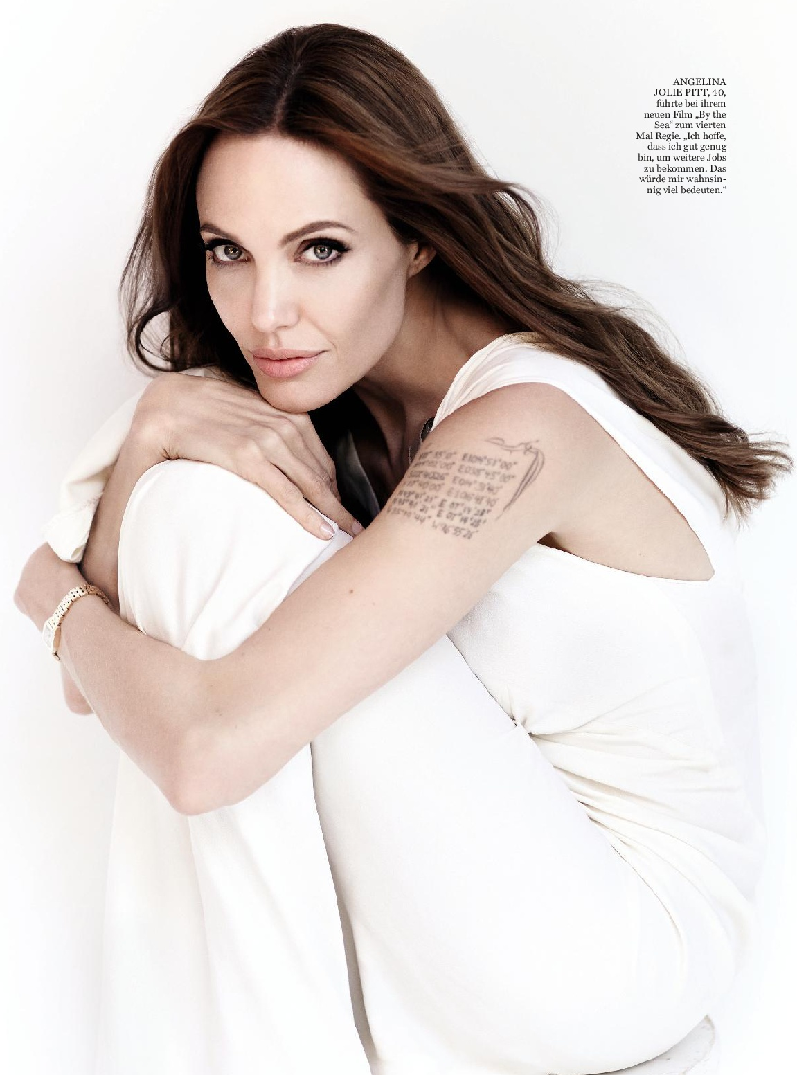 Angelina Jolie Look Using All Drugstore Makeup: InStyle Germany, January 2016