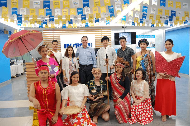 Ingram Micro's Chief HR Scott Sherman during their Buwan ng Wika celebration
