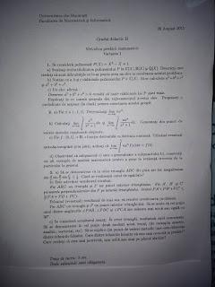 Subiecte matematica 2015 - grad didactic II Bucuresti