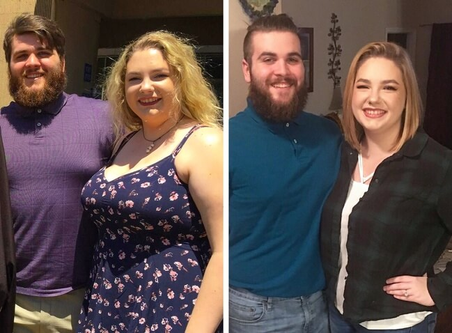 21 Before And After Photos Of People Who Managed To Lose Weight and Begin A Brand New Life - They wanted to change themselves, so they did it. He lost 70lb; she lost 56lb.
