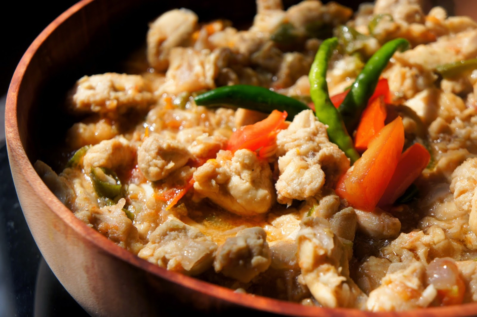 how to cook chopped chicken in a pan