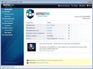 تنزيل برنامج Outpost Security Suite ازالة الفيروسات من الكمبيوتر
