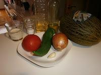 Gazpacho de Melón con jamón.