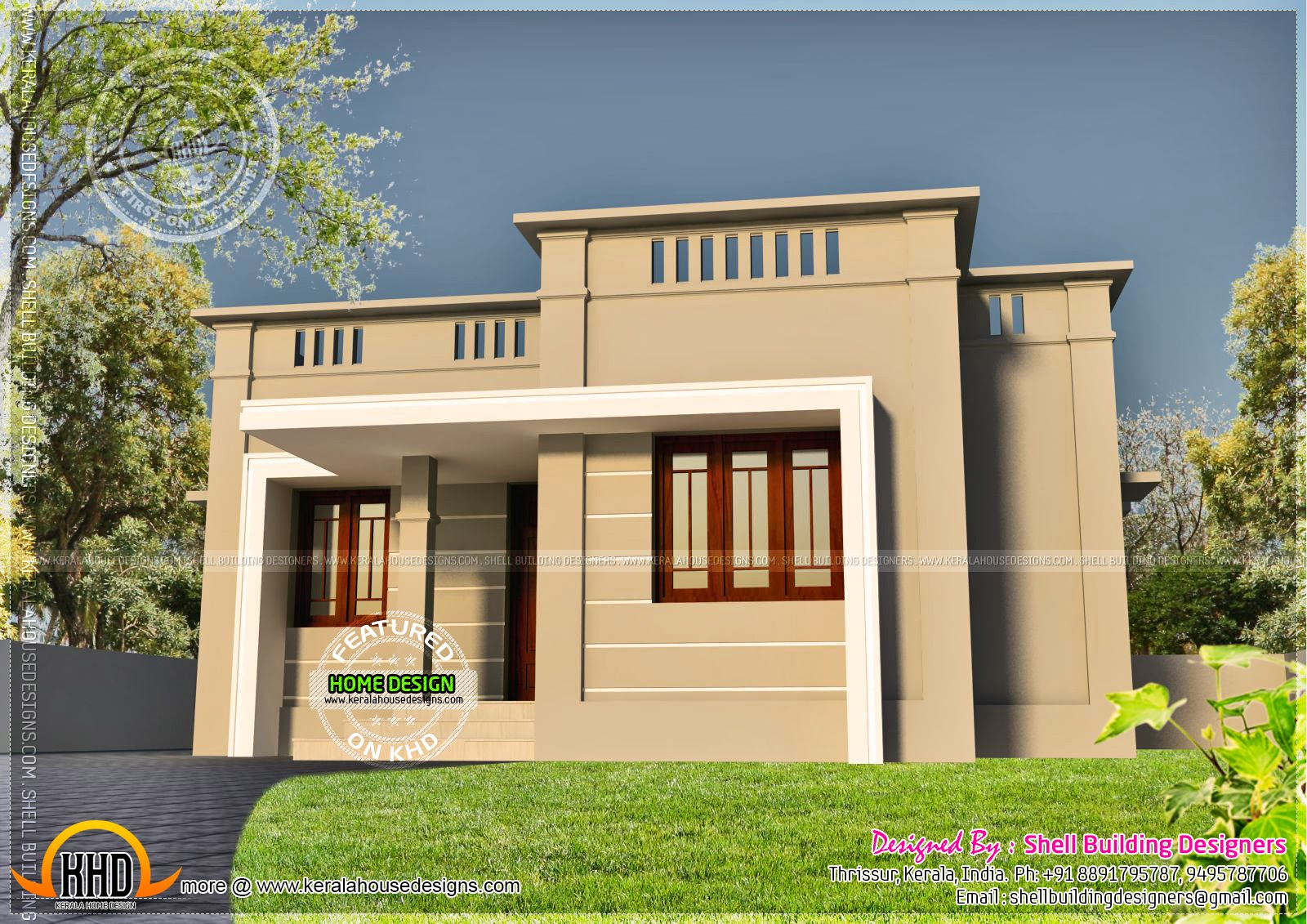 Very small house exterior kerala home design and floor plans for Small frontage house designs