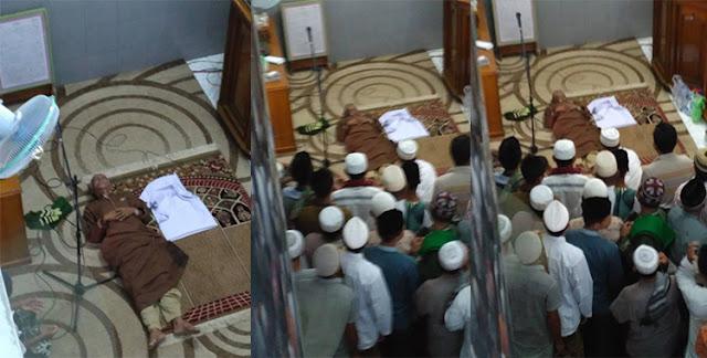 Subhanallah... Lagi, Imam Masjid Meninggal Ketika Sujud Saat Menjadi Imam Sholat Jum'at Tadi Siang