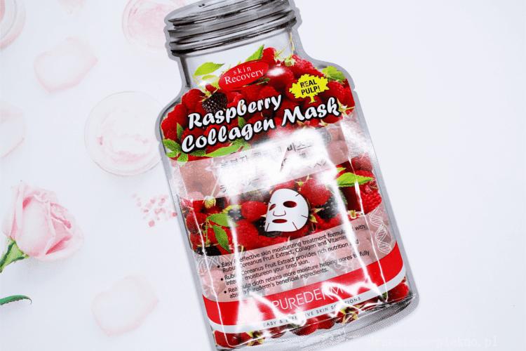 Purederm, Raspberry Collagen Mask Malinowa maseczka w płacie