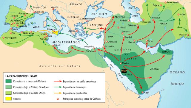 Resultado de imagen de LA EXPANSIÓN DEL ISLAM