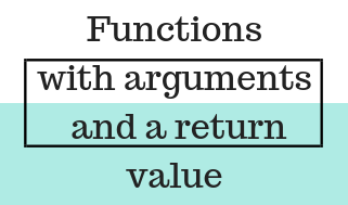 Functions with arguments and a return value