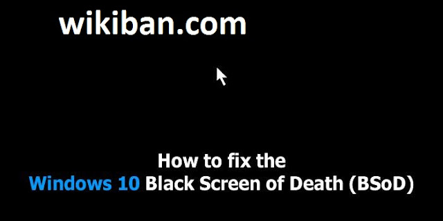 how o fix win 10 black screen boot up