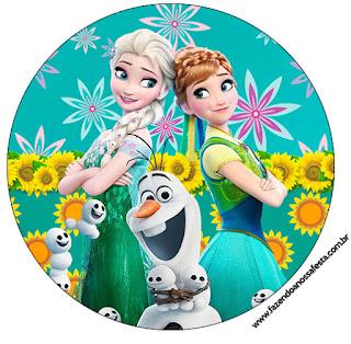 Toppers o Etiquetas de Frozen Fiebre Congelada para imprimir gratis.
