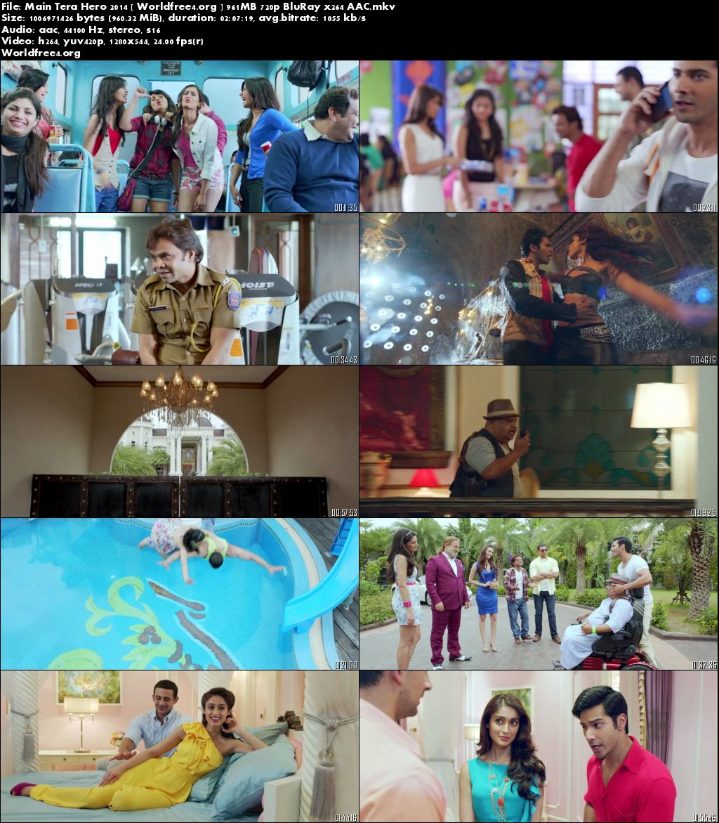 Main Tera Hero 2014 BluRay 720p Hindi Movie 950MB Download