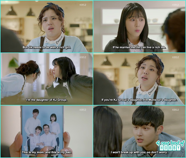 na ri oppose ha roo and jik relation when she find out Ha roo is prosecutor choi daughter - Uncontrollably Fond - Episode 17 Review