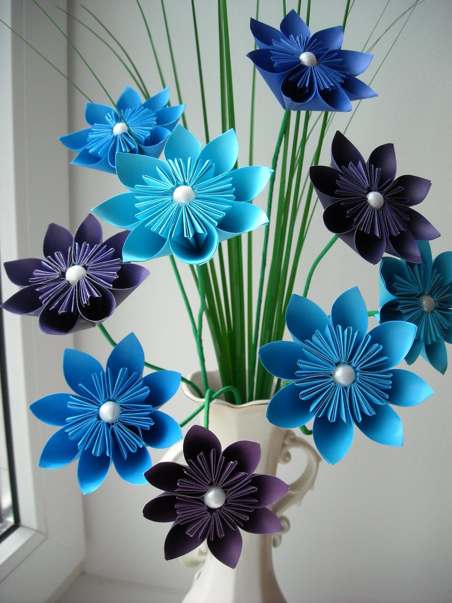 12 Hermosos Centros De Mesa Con Flores De Papel En Origami