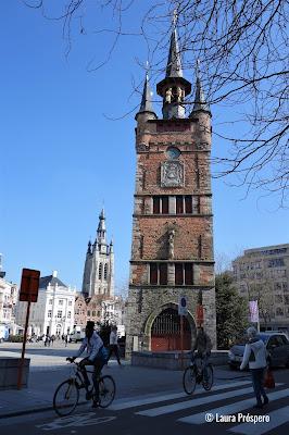 O campanário de Kortrijk, inscrito na lista do Patrimônio Mundial da UNESCO desde 1999.