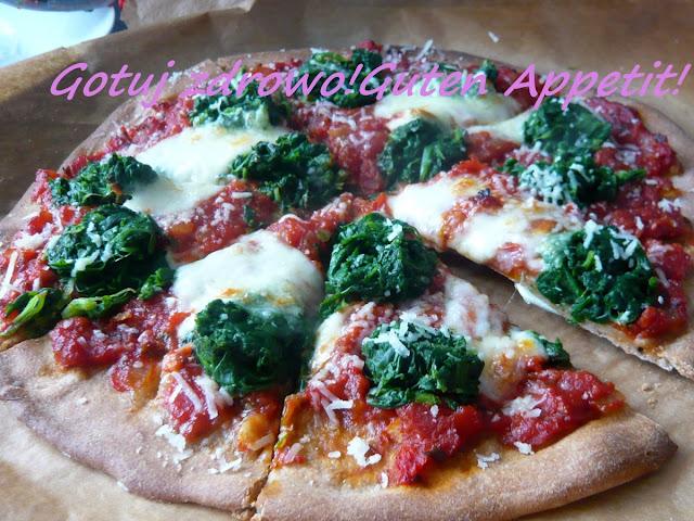 Pizza pełnoziarnista ze szpinakiem - Czytaj więcej »