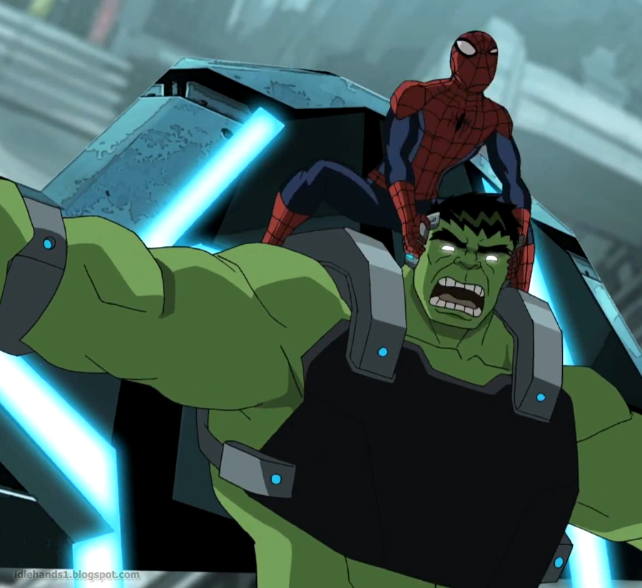 Hulk and Spiderman