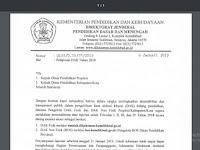 Surat Sekretaris Dirjen Dikdasmen Tentang Pelaporan DAK Tahun 2018
