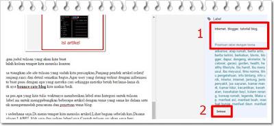 Cara mudah posting artikel di blog lengkap dengan label dan deskripsi
