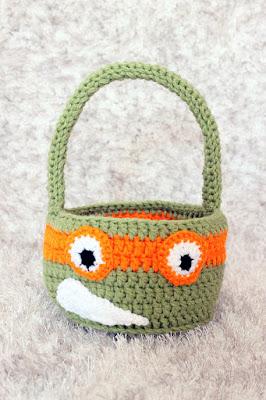 Crochet easter baskets