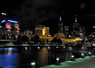 Downtown Melbourne at Night australia