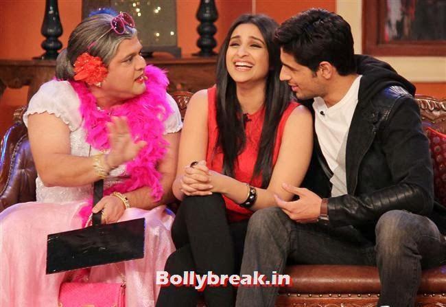 Ali Asgar, Parineeti Chopra and Sidharth Malhotra, Parineeti & Sidharth on Comedy Nights with Kapil