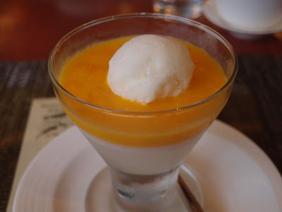 Coconut Jelly with Mango Puree