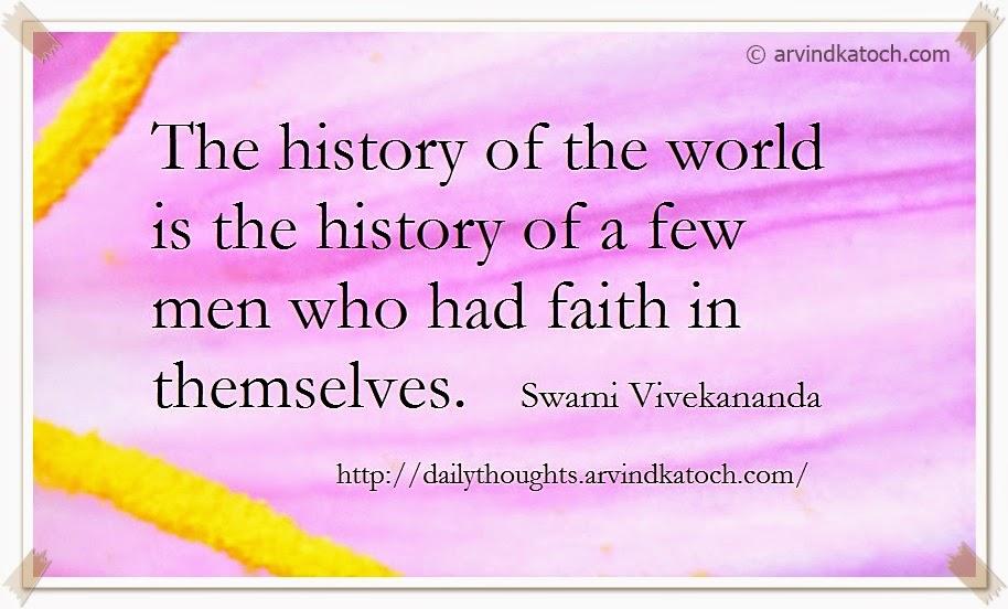 history, world, faith, Daily Thought, Quote, Swami Vivekananda,