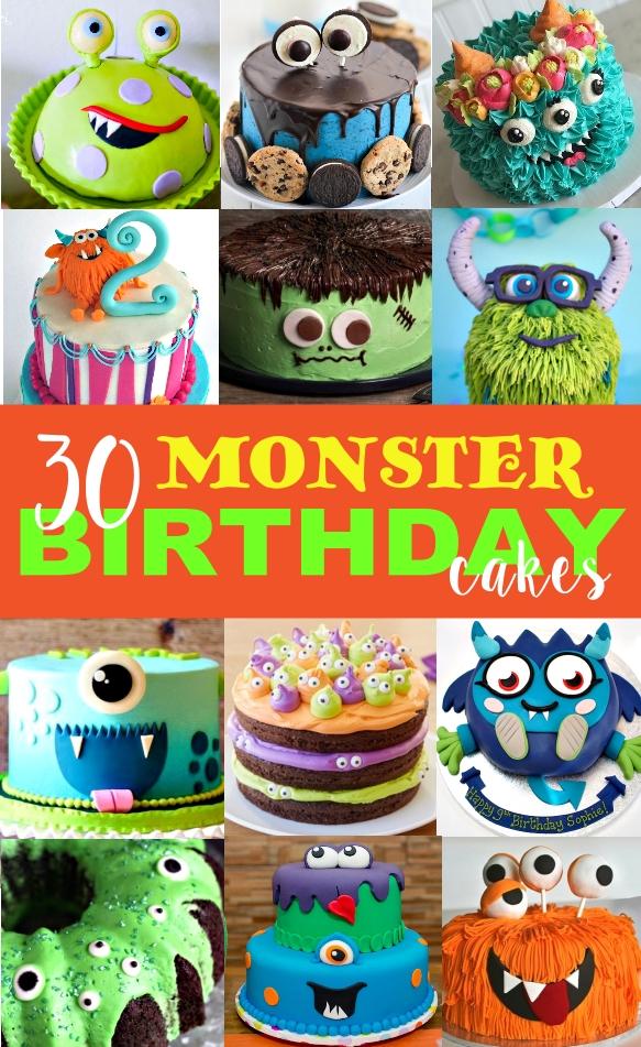 Phenomenal 30 Monster Birthday Cakes Ideas Personalised Birthday Cards Arneslily Jamesorg