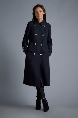 Wallis W Navy Military Coat