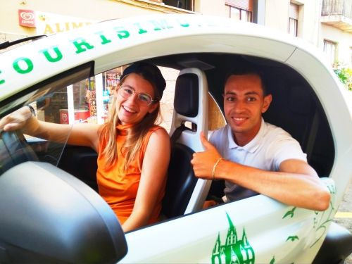 Driving electric cars in Barcelona
