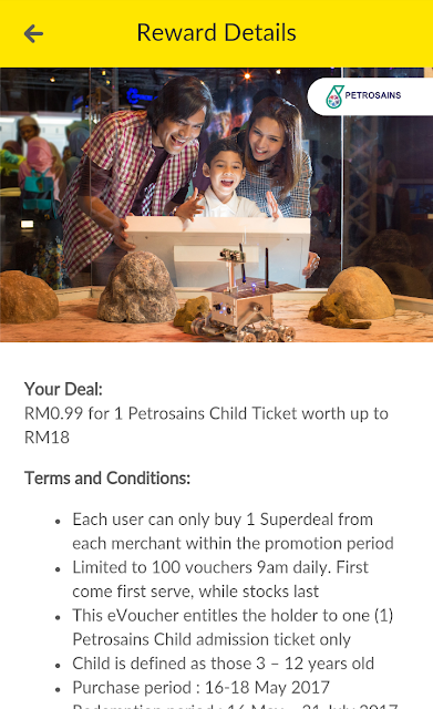 Digi superdeal e-voucher petrosains child ticket