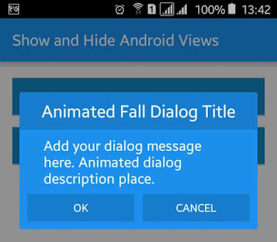Android Example: How to Make Material Design Animated Dialog Box
