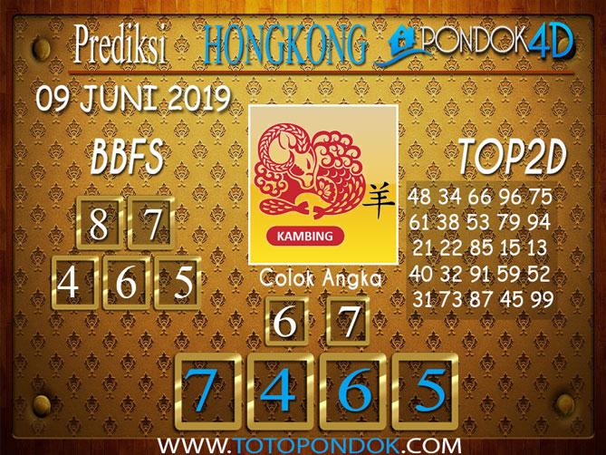 Prediksi Togel HONGKONG PONDOK4D 09 JUNI 2019