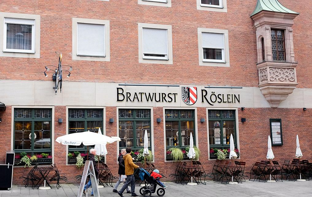 Bratwurst röslein nuremberg
