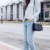 Stripes + boyfriend jeans