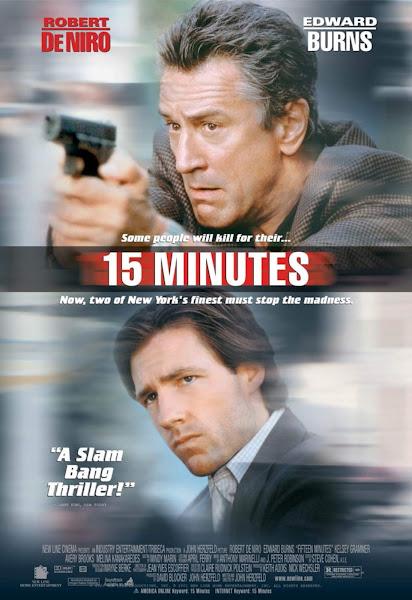 Poster of 15 Minutes (2001) Dual Audio [Hindi-English] 720p BluRay ESubs Download