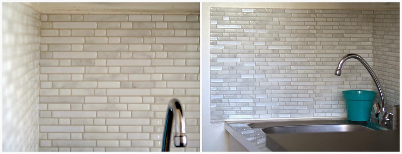 j 39 ai test le carrelage mural adh sif smart tiles valy 39 s blog. Black Bedroom Furniture Sets. Home Design Ideas