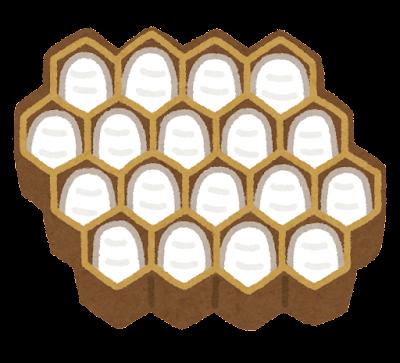 蜂の子のイラスト