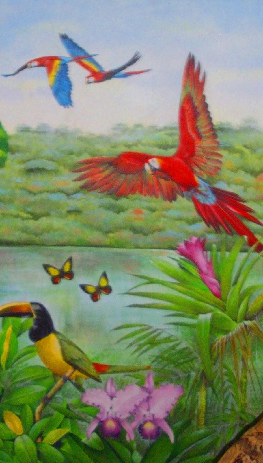 Imágenes Arte Pinturas: PAISAJES CON AVES