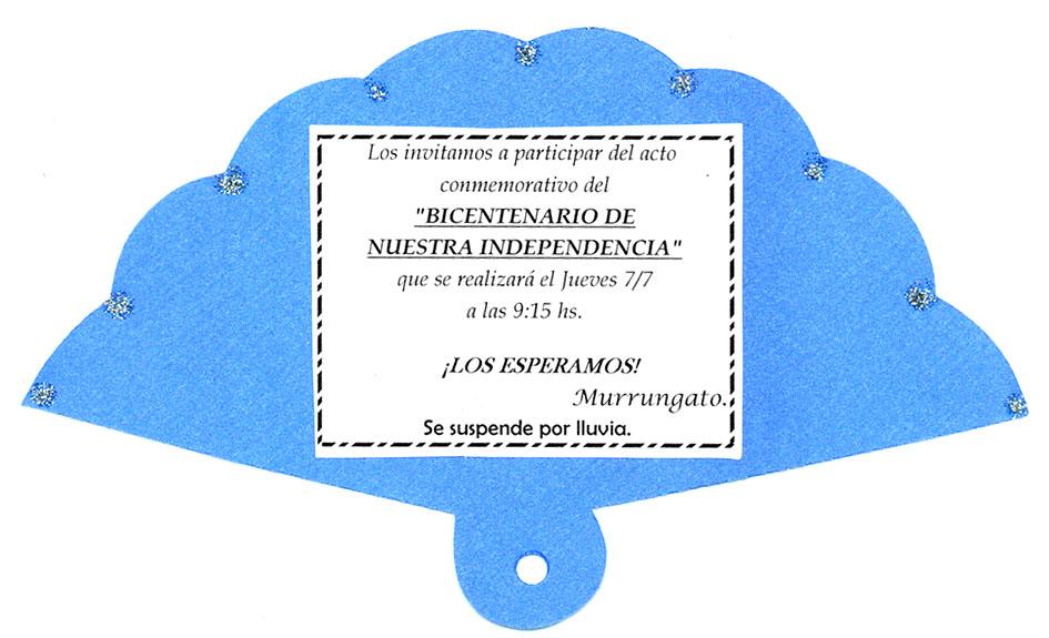 Tarjetas De Invitacion De 9 De Julio Murrungato Para Agendar Julio Modelos De Tarjetas De