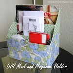 Mail and Magazine Holder from Cartons