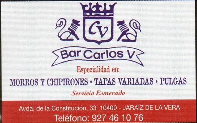 Bar Carlos V. Especialistas en tapas. Colaborar con #Extredanza 2016