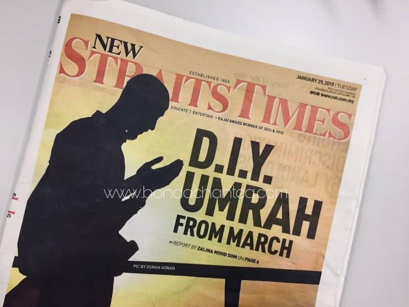 UMRAH DIY: PAKEJ UMRAH ONLINE BERMULA MAC 2019